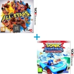 Комплект: WWE All Stars + Sonic & All-Star Racing Transformed (3DS)