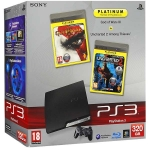"PlayStation 3 Slim (320 Гб) + ""God of War 3. Platinum"" + ""Uncharted 2: Among Thieves. Platinum"""