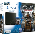 PlayStation 4 (1 Tб) + Assassins Creed: Синдикат + Watch Dogs