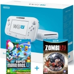 Nintendo Wii U Basic Pack (белая) - 8 Гб + New Super Mario Bros U + Zombi U