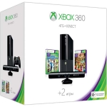 Xbox 360 E (4Гб) + сенсор Kinect + Kinect Adventures + Kinect Sports 2 + Xbox LIVE (1м)