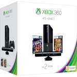 Xbox 360 E (4Гб) + сенсор Kinect + Kinect Adventures + Dance Central 3 + Xbox Live (1м)