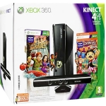 Xbox 360 (4Гб) + сенсор Kinect + Kinect Adventures + Carnival Games + Xbox LIVE Gold (3м)