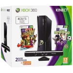 Xbox 360 (4Гб) + сенсор Kinect + Kinect Adventures + Kinect Sports + Xbox LIVE Gold (3м)