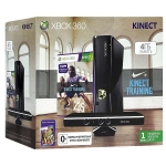 Xbox 360 (4Гб) + сенсор Kinect + Nike+Kinect Training + Kinect Adventures + Xbox LIVE Gold (1м)