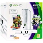 Xbox 360 (4Гб - белая) + сенсор Kinect + Kinect Adventures + Kinect Sports + Xbox LIVE Gold (3м)